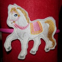 Adorable Horse Headband Slider  Machine Embroidery by WhimsyDolls