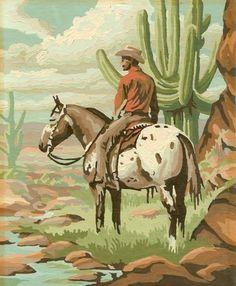 Western art. Sonoran Desert scene. Now or yesterday.