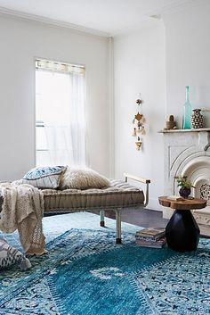 Beautiful Overdyed Turquoise Rug Love - anthropologie.com