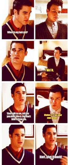 Klaine. Oh Boy...i felt so bad like legit cried