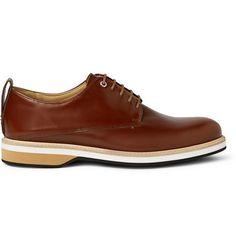 WANT Les Essentiels de la Vie Montoro Polished-Leather Derby Shoes | MR PORTER