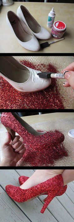 Tired of your basics shoes ? Glitter them !
