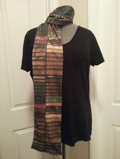 Bookshelf knit scarf REGULAR STYLE  made to by NerdAlertCreations, $40.00