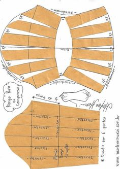 Transformação de mangas - Mend Tutorial and Ideas Sewing Dress, Sewing Sleeves, Dress Sewing Patterns, Clothing Patterns, Pattern Drafting Tutorials, Sewing Tutorials, Sewing Projects, Cut Clothes, Sewing Clothes