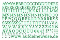 """Alphabet Sticker """"Eva"""" – grün; Bogen 1 (A-Z)"""