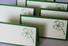 Hey, I found this really awesome Etsy listing at https://www.etsy.com/listing/122129996/shamrock-in-green-wedding-place-cards