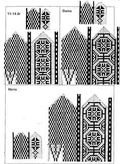 Mittens Pattern, Knit Mittens, Mitten Gloves, Chart Design, Filet Crochet, Knitting Patterns, Inspiration, Knits, Charts