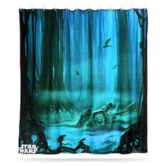 Dagobah Shower Curtain: Bathe, You Must   Technabob. Dagobah Shower Curtain  ~ Star Wars ...