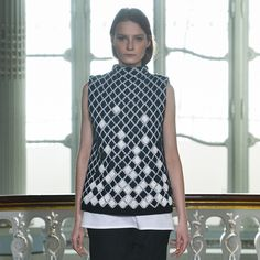 Pringle of Scotland has incorporated laser-sintered nylon fabric into garments in its Autumn Winter 2014 collection
