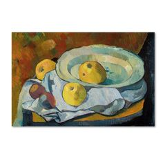 Paul Serusier 'Plate of Apples 1891' Canvas Art