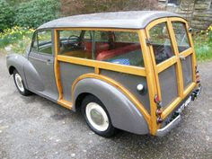 Morris Minor Traveller - my grandfather owned one in the It had indicators which came out of the door pillar when needed. Like wee orange flags. Old Used Cars, Old Cars, Classic Motors, Classic Cars, Morris Traveller, Automobile, Morris Minor, Import Cars, Small Cars
