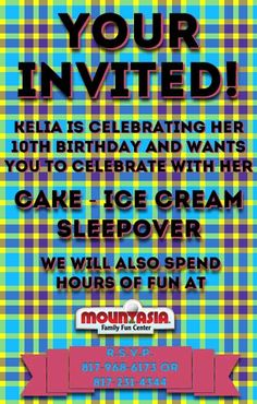 Birthday Invite for my daughter