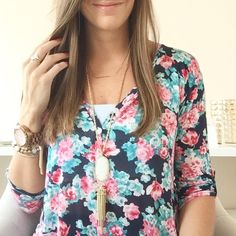 Cannot get enough of this flowy top!