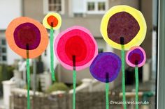 Tutorial: Fensterbild Blumen Im Sommer Selber Basteln - American Cheesecake Rezepte Diy For Kids, Crafts For Kids, Home Crafts, Diy And Crafts, Toddler Crafts, Hobbies And Crafts, Kids And Parenting, Projects To Try, Gift Wrapping