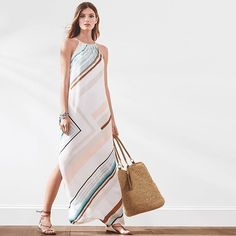 Conquer whatever summer throws your way in a chic maxi.  #whbm #newarrivals