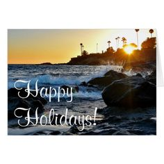 Happy Holidays from The Beach - JS Photography Card #cards #christmascard #holiday