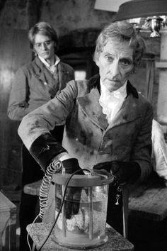 Peter Cushing goes full mod. from Frankenstein and the Monster From Hell...favorite Hammer film