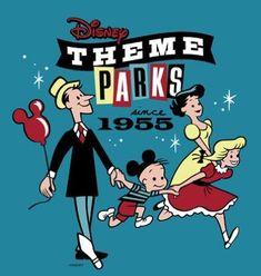 Cool retro Disney theme parks logo