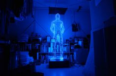 This is The Man with No Shadow, a LED-based sculpture of a full size man by Makoto Tojiki Yuumei Art, Makoto, Japanese Artists, Installation Art, Holographic, Les Oeuvres, Sculpture Art, Futuristic, Amazing Art