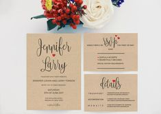 Wedding Invitation Template Download by BetterHalfPrintables