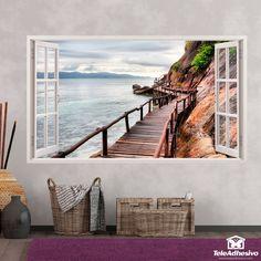Vinilos para la pared con forma de ventana-Teleadhesivo Outdoor Furniture, Outdoor Decor, Hammock, Wicker, Sweet Home, House, Home Decor, Ideal House, Shape