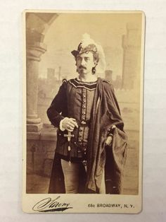 Edwin Booth original antique CDV photograph - in costume                                                                                                                                                                                 More