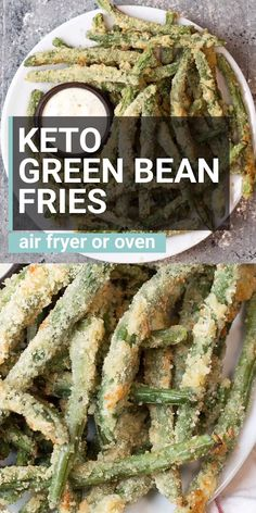 Air Fryer Recipes Discover Keto Crispy Green Bean Fries Try these low carb Crispy Green Bean Fries perfect for a game day snack! You can make these keto fries in the oven or air fryer! About 5 net carbs per serving! Air Fryer Recipes Low Carb, Air Fry Recipes, Low Carb Recipes, Diet Recipes, Cooking Recipes, Healthy Recipes, Easy Recipes, Air Fryer Recipes Green Beans, Air Fryer Recipes Videos