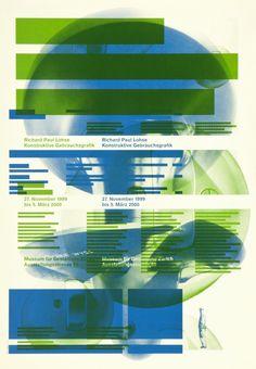 Richard Paul Lohse, Konstruktive Gebrauchsgrafik. Designer: Müller Hess. 1999. Carnegie Mellon Swiss Poster Collection