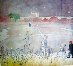 Peter Doig, Untitled, 186 x 199 cm. Peter Doig, Helene Schjerfbeck, Chelsea School Of Art, Landscape Paintings, Art Paintings, Portrait Paintings, Acrylic Paintings, Landscape Art, Contemporary Paintings