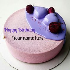 Print name on birthday cake, Birthday cake with heart for love, Romantic birthday cake with rose for love, Rose flower decorated cake with name Birthday Cake For Father, Heart Birthday Cake, Birthday Cake For Boyfriend, Birthday Cake Greetings, Happy Birthday Wishes Cake, Friends Birthday Cake, Strawberry Birthday Cake, Special Birthday Cakes, Birthday Wishes And Images