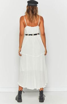 Summer Bliss Maxi Dress White White Maxi Dresses, Linen Dresses, Casual Dresses, White Dress, Summer Dresses, Festival Outfits, Festival Fashion, Dresses Online Australia, Festival Looks