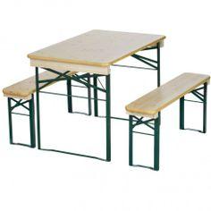 RUKU German beer garden biergarten style folding wood table and
