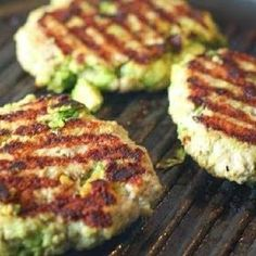 Chunks of fresh avocado mixed with ground chicken or turkey. Perfectly Paleo and Chicken Avocado Burger! Chunks of fresh avocado mixed with ground chicken or turkey. Perfectly Paleo and Yummy Recipes, Cooking Recipes, Yummy Food, Healthy Recipes, Whole30 Recipes, Recipies, Grilling Recipes, Cooking Tips, Barbecue Recipes