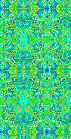 turquoise & lime