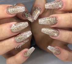 Gold glitter ombre nails nails nails acrylic nails coffin nails gold glitter tip nails Nails Yellow, Pink Nails, Pastel Nails, Trendy Nails, Cute Nails, Pink Gel, Nails Kylie Jenner, Eye Makeup, Gold Glitter Nails
