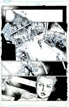 For Sale Artwork :: Civil War II # 0 by artist Olivier Coipel Comic Book Layout, Comic Book Pages, Comic Book Artists, Comic Artist, Comic Books Art, Bd Comics, Manga Comics, Comic Book Style, Comic Panels