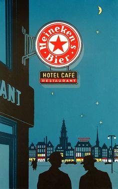Oude reclameposters Heineken | biernet.nl