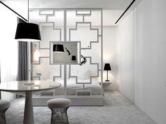 Black and White Luxury Hotel Bedroom Design Hotel Bedroom Design, Luxury Hotel Design, Modern Bedroom Design, Bedroom Designs, Bedroom Ideas, Modern Room, Modern Design, Bedroom Decor, Black And White Interior