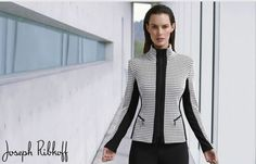 Black + White | Zip Jacket | Joseph Ribkoff.