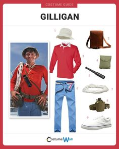 The best cosplay guide for dressing up just like Gilligan, the hilarious main character from the hit CBS sitcom Gilligan's Island. Costume Halloween, Unique Couple Halloween Costumes, Adult Halloween, Holidays Halloween, Halloween Party, Easy Costumes, Halloween 2019, Halloween Ideas, Costume Ideas