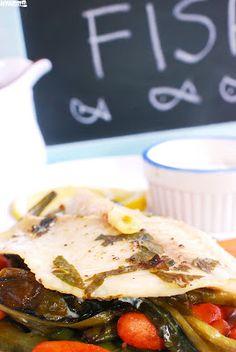 Nyammm: Zsákban sült medvehagymás tengeri halfilé balzsamecetes sült zöldségekkel Naan, Beef, Food, Meat, Essen, Meals, Yemek, Eten, Steak