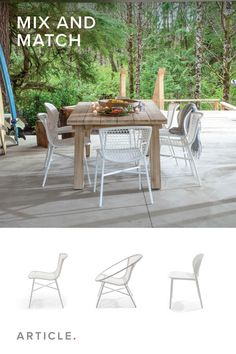 Don't be afraid of white. Choose outdoor chairs that are durable and easy to clean.