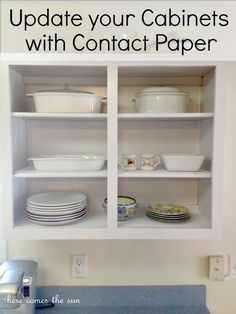 How to Update your Cabinets Using Contact Paper   #rental #diy #apartmentliving @For Rent.com