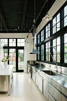 like the black windows and the zinc? counters