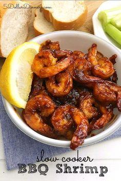 Slow Cooker BBQ Shrimp