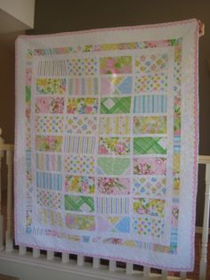 Quilt made from vintage sheets.