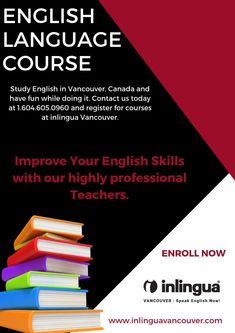 Inlingua Vancouver offers the best IELTS preparation courses with 24 lessons per week hours) classes and The course duration is from 4 weeks to 16 weeks. English Study, Learn English, English Language Course, 16 Weeks, Improve Your English, Ielts, Vancouver, Improve Yourself, Have Fun