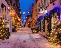 Old Quebec, Canada:   Clustered around the city?s harbor on the banks of the St. Lawrence River are the quaint stone buildings and narrow, winding cobblestoned streets of Old Qu�bec.