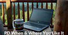 As you start to plan for your summer professional development needs think about the benefits of self-paced online courses. You can start and finish the course on your schedule from wherever you have Internet access. If you're like me in the summer that schedule and setting includes sipping coffee while sitting on your deck or patio. It's a nice alternative to having to sit in a conference room on a summer day.  My G Suite for Teachers online course is on sale now through Monday. Register at…