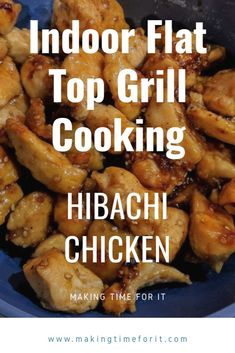 Indoor flat top grill cooking using the Steelmade flat top grill that fits right over your stove. Hibachi chicken recipe and fried rice! Hibatchi Recipes, Cooking Recipes, Grill Recipes, Chicken Recipes At Home, Grilled Chicken Recipes, Cooking On The Grill, Just Cooking, Cooking Time